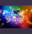 colourful diwali background vector image vector image