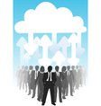 company people do business in it cloud computing e vector image vector image
