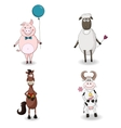 Cute Farm Animals vector image vector image
