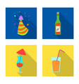 design of party and birthday logo set of vector image vector image