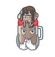 devil milkshake mascot cartoon style vector image vector image