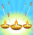 diwali design vector image vector image