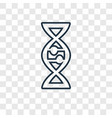 dna concept linear icon isolated on transparent vector image