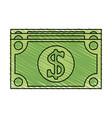 dollar bill money icon image vector image vector image