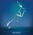 Doodle Map of New Zealand vector image