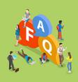 faq flat isometric concept vector image