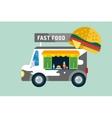Fast food car van vector image
