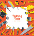 flat construction tools background with vector image vector image