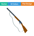 Flat design icon of hunting gun vector image vector image