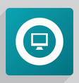 flat pc icon vector image