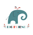 funny kids print elephant vector image vector image