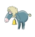 Funny little Lamb with yellow bell vector image vector image