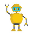 funny yellow robot icon vector image