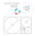 golden ratio template logo fibonacci vector image