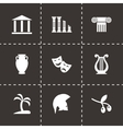 greece icon set vector image vector image
