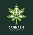 green cannabis leaf icon and symbol vector image