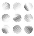 halftone black and white dotted pattern circle vector image vector image