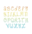 Hand drawn alphabet Doodle letters set Colorful vector image