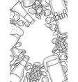 hand drawn beer set vector image vector image