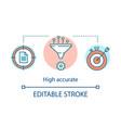 high accurate advantage concept icon vector image vector image