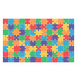 jigsaw puzzle set 104 colorful pieces vector image vector image
