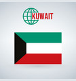 kuwait flag isolated on modern background with vector image vector image