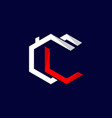 letter cc residential home business logo design vector image vector image