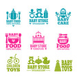 logo for babies vector image