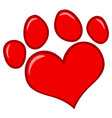 Love Paw Print vector image vector image