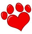 Love Paw Print vector image