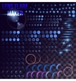 Mega set of lighting elements vector image vector image