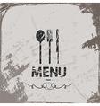 menu vintage abstract grunge background vector image vector image