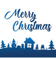 merry christmas greeting card with lettering on vector image vector image