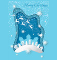merry christmas greeting on card with fairy winter vector image