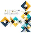 Modern square geometric pattern design on white vector image