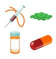 narcotic and medical symbol vector image vector image