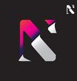 ns monogram logo letter based vector image vector image
