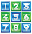 numbers icon set vector image