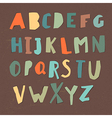 Paper Cut Alphabet Colorful letters Easy edited vector image vector image