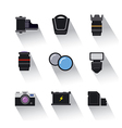 photo equipment icons vector image vector image