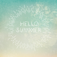 Phrase Hello Summer on grunge blue background vector image vector image