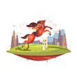 professional horseback riding vector image