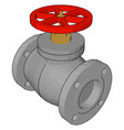red ball valve on white background vector image