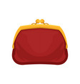 red retro purse money and finance vector image vector image