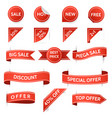retro promo and offer stickers vector image vector image