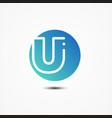 round symbol letter u design minimalist vector image vector image