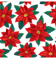 seamless pattern red poinsettia vector image vector image