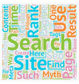 SEO Myths Pit Holes On The Way To The Top text vector image vector image
