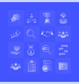 service customer gradient icons set on blue vector image vector image