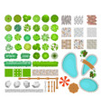 set bright colorful parck vector image